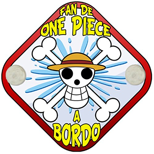Placa bebé a bordo fan de One Piece a bordo