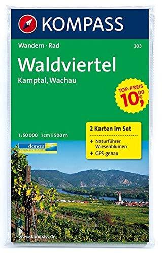 Waldviertel, Kamptal, Wachau 1 : 50 000: Wandern/Rad. 2-teiliges Set mit Naturführer. GPS-genau