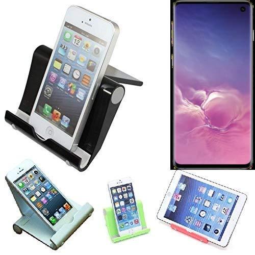 K-S-Trade per Samsung Galaxy S10 (DUOS) Supporto da Tavolo Dock Nero, Forte, Leggero e Compatto Multi-Angolo Basamento Smartphone Fold-up Stazione per Samsung Galaxy S10 (DUOS)