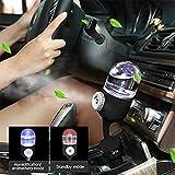 Jelinda Auto Lufterfrischer Ätherisches Öl Diffusor, Mini Auto Aroma Luftbefeuchter Stecker in Aromatherapie Leichter Diffusor mit Dual USB Ladegerät für Fahrzeug Reisen