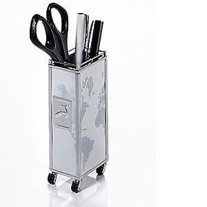 Mini trolley portamatite a forma di carrello portavivande for Carrello portavivande amazon