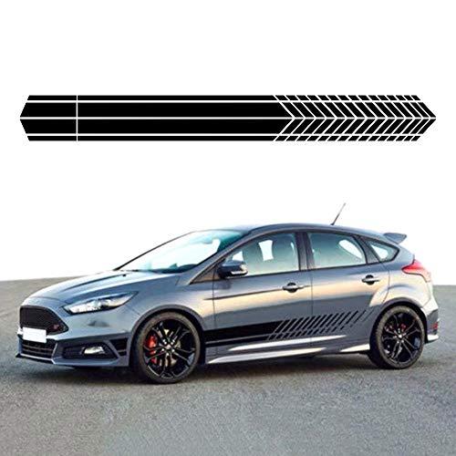 Carrfan Auto Aufkleber,Seitentür Rennstreifen Viperstreifen Rallyestreifen Sportliche Optik Aufkleber Auto Dekoration,1 Paar