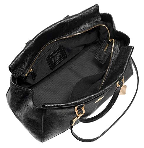 Coach Women's Pebble Leather Fulton Satchel Bag, Black 21346