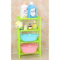 XXTT-Moda piazza riempita con quattro strati rack, vasche da bagno di plastica, quattro colori opzionali , green