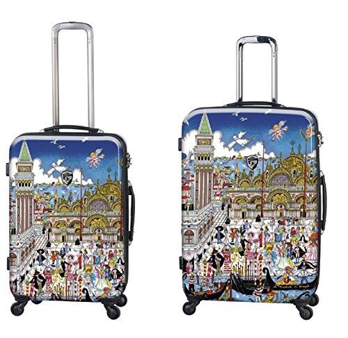 Sets de Bagages, valises - Première Classe Valise Rigide Set 2 pièces - Heys Artistes Fazzino Venise Trolley avec 4 Roues Mèdias + Trolley avec 4 Roues Grand
