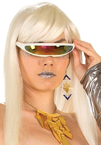 8futuristische Cyborg Gläser, One size (Futuristisches Kostüm)