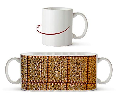 köstliche Mini Kekse Effekt: Zeichnung als Motivetasse 300ml, aus Keramik weiß, wunderbar als Geschenkidee oder ihre neue Lieblingstasse. -