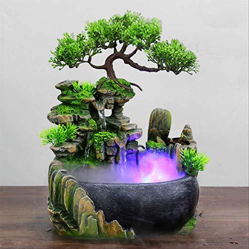YAYA Kreative Harz Abdeckung Simulation Gefälschte Berg Wasserfall Statue Feng Shui Brunnen Haus Garten Bonsai-1