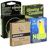kondomotheke Glow Mix Nr. 1-4x condones brillantes (Amor, Dansex, Erotim, LoveLight)
