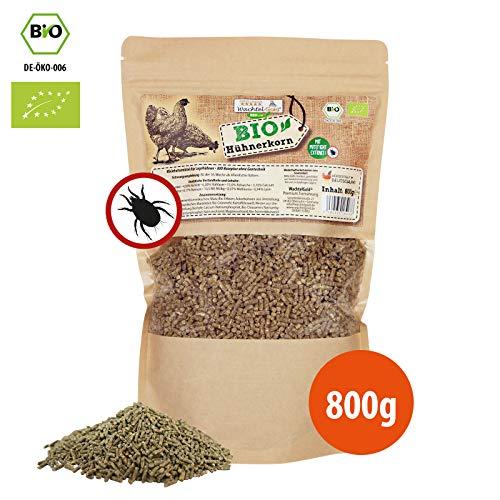 WachtelGold Bio-Hühnerkorn 800g - Hühnerfutter Pellets - Bio Legekorn Biofutter