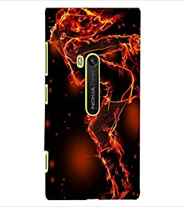ColourCraft Flaming Girl Design Back Case Cover for NOKIA LUMIA 920