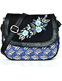 Pick Pocket Girls Sling Bag (Black) (SLFloBluPU158)