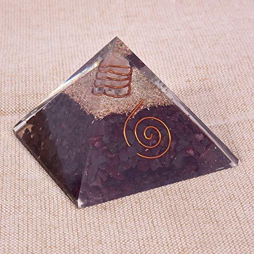 Natürliche Crystal Red Jasper Orgon Pyramide für EMF Schutz & Heilmeditation Orgonit Pyramiden -