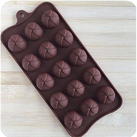 Duode Time 6 cavità a forma di lecca lecca di cioccolato in Silicone antiaderente Teperature fai-da-te, ad alta resistenza per cubetti di ghiaccio o dessert in Silicone, stampo per dolcetti style 31