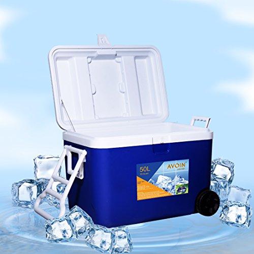 AVOIN colorlife 53QT, ohne Strom, 5-Tage Kühlbox, Kühltasche, Gefriertasche 50L