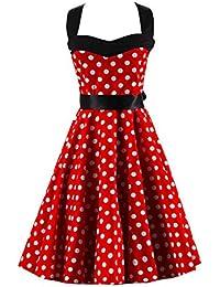 VKStar Retro Chic ärmellos 1950er Audrey Hepburn Kleid Cocktailkleid  Rockabilly Swing Kleid 8c8975bc42