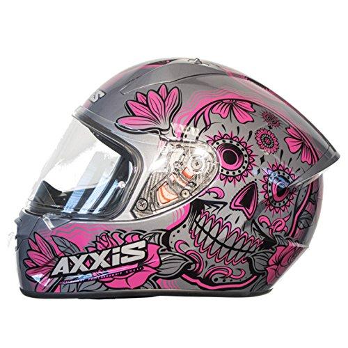 Casco Axxis STINGER DAYDEAD Rosa Mexican skull calaveras