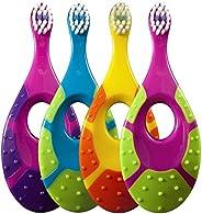 Jordan Step 1 Baby Toothbrush, 0-2 Years, Soft Bristles, BPA Free (2 Pack / Colors May Vary)