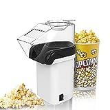 Máquina de palomitas, foneso Popcorn Maker en blanco, fácil de limpiar, no incluye margen de aceite, Popcorn Maker para fettarmes palomitas