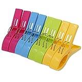 Keesin mollette per asciugamano da spiaggia resistenti, 8pezzi, in plastica dai colori alla moda, mollette di grandi dimensioni per lettino o piscina Rose-red