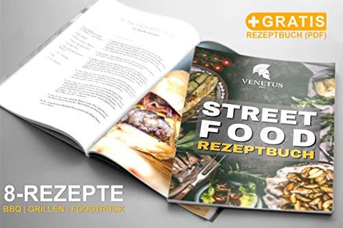 51MpvspVZnL - VENETUS-BBQ Grillbesteck extra lang aus edlem Akazienholz | Premium Grillzubehör 3 teilig: Grillzange, Grillwender und Grillpinsel | Ideales Grill-Geschenk für Männer
