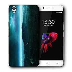 Snoogg Neon Planet Printed Protective Phone Back Case Cover For OnePlus X / 1+X