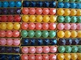 120 Votivkerzen Timtina ca 8-10 Düfte durchgefärbt viele Farben (120)