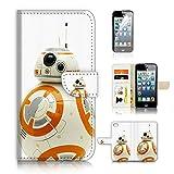 (pour iPhone 55S/iPhone SE) Portefeuille Flip Coque protecteur d'écran et Bundle. A20420StarWars Bb8