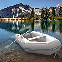 Jago Barca Hinchable Neumática 270/152 cm con 2 Remos, Bomba de Pie, Suelo de Madera, Capacidad hasta 474kg   Barca de Pesca, Bote de Goma