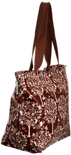 Re-uz Medium Oilcloth Tote Brown Fairytale, Borsa tote donna Marrone (Brown/White)