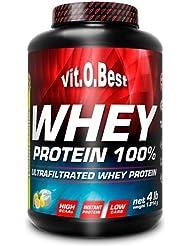 Vit-O-Best Whey Protein 100%, Proteínas, Sabor a Fresa - 1814 gr