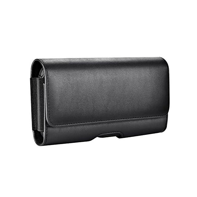 b4fe89345448da Mopaclle Galaxy S8 Ceinture Étui, Galaxy S9 Cuir de Protection Porte-Cartes  en Holster ...
