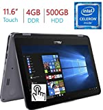 "2018 Newest Business Asus VivoBook Flip 11.6"" 2-in-1 HD Touchscreen Laptop/Tablet, Intel Dual"