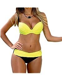 Chenly Mujeres Push Up Bikini Set Triángulo De Verano De Trajes De Baño Bajos De Talle Brasileño Beachwear