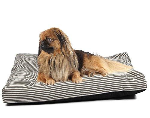 Tierbedarf für Katze und Hund, Haustier-Matten-Kasten DIY Hundekissen-Abdeckungs-Wiedereinbau-Abdeckung mit 2 Größen u. 6 Arten ( Color : Stripe Canvas , Size : XL 120*74cm ) (Canvas Stripe)