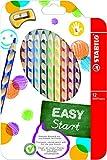 Ergonomischer Buntstift - STABILO EASYcolors - 12er Pack mit Spitzer - mit 12...