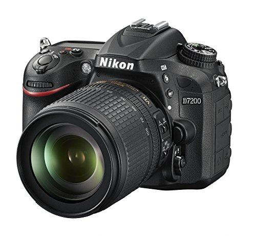 "Nikon D7200 - Cámara réflex Digital de 24.2 MP (Pantalla de 3.2"", FHD, WiFi), Color Negro - Kit con Objetivo AF-S Nikkor 18-105 mm VR"