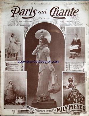 PARIS QUI CHANTE [No 151] du 10/12/1905 - CONSACRE A
