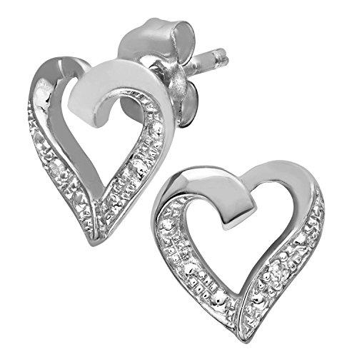 Naava Pendientes para Mujer de Oro Amarillo 9K con Diamante
