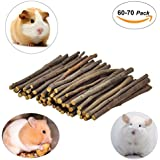Niteangel 60-70 Apple Chew Sticks For Chinchilla, Guinea Pigs, Hamsters, Rabbits, Parrots And Other Small Animals