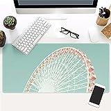 @A Office Das Spiel Mouse Pad Ist Sehr Groß, Und Die Rutschfeste Gummifüße Ist Kompatibel Mit Laser Und Optische Maus Für Jede Maus Tastatur Und Notebook., 9.077 X 900 Mm X 3 Mm,