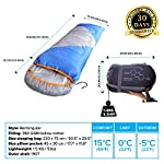 Mountaineers Outdoor Sleeping Bag, 4 Season, XL Pillow Pocket & Water Resistant Outer Shell - Including Foot Zipper… 14