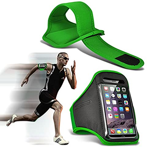 Fone-Case (Green) Huawei P10 Plus Adjustable Sports Armband Case Cover
