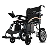 GYH Electric Wheelchair, Foldable 18kg Portable Small Travel Scooter, Elderly, Disabled Intelligent Automatic Life-Saving 20KM Travel Tools (#)