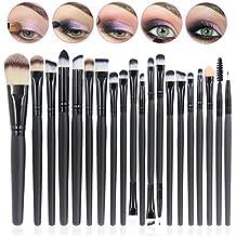 CINEEN 20Pcs Set de Brochas de Maquillaje Profesionales Cepillos Pínceles de Maquillaje con Mango de Madera Productos Cosméticos para Labios Ojos Rostro …