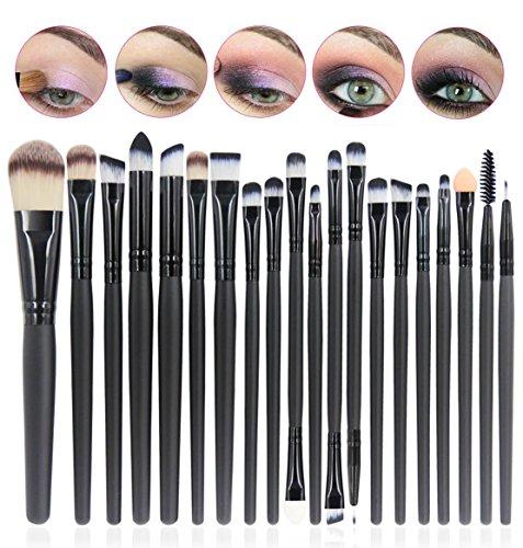 CINEEN Make-up Pinsel 20 Stück Kosmetikpinsel bilden Puder Augenbrauen Lidschatten Lidstrich Zwei...