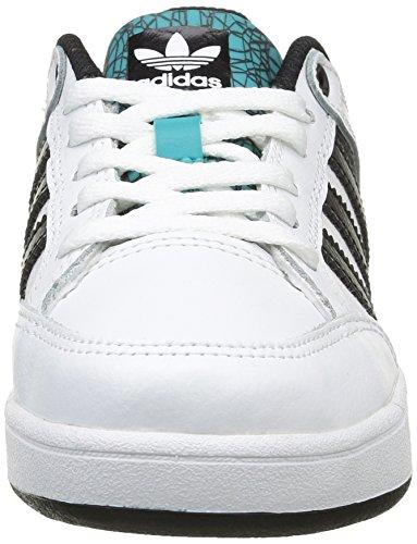 adidas Varial J, Scarpe da Skateboard Unisex – Bimbi 0-24 Bianco (Ftwr White/Core Black/Shock Green)