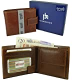 RFID Blocking Quality Italian Leather Wallet with 10 card slots, 2 Note sections and Coin Pocket - Gift Boxed