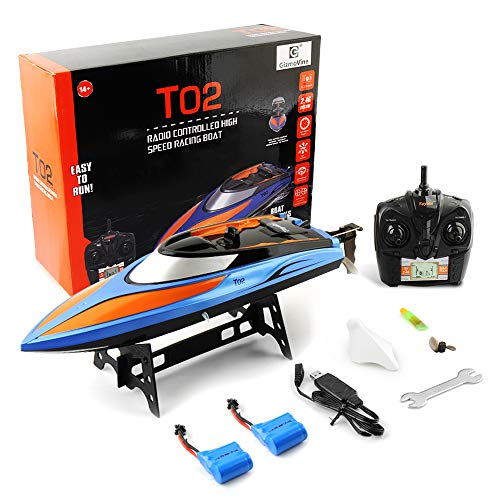 GizmoVine Remote Control Boat, 2.4GHz High Speed Electric Remote RC Boat for Pools and Lakes RC Racing Boats for Adults & Kids + Battery (2019 Updated)