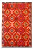 Fab Hab - Lhasa - Orange & Violett - Teppich/Matte für den Innen- und Außenbereich (90 cm x 150 cm)